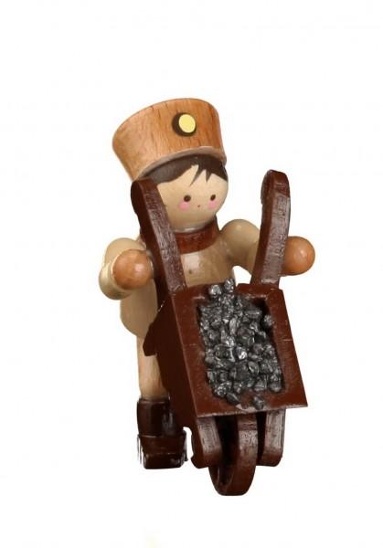Der Bergmann mit Schubkarre, mini in natur von Romy Thiel Deutschneudorf/ Erzgebirge, gehört zu den beliebten Bergmänner der Miniaturen von der Firma Thiel. …