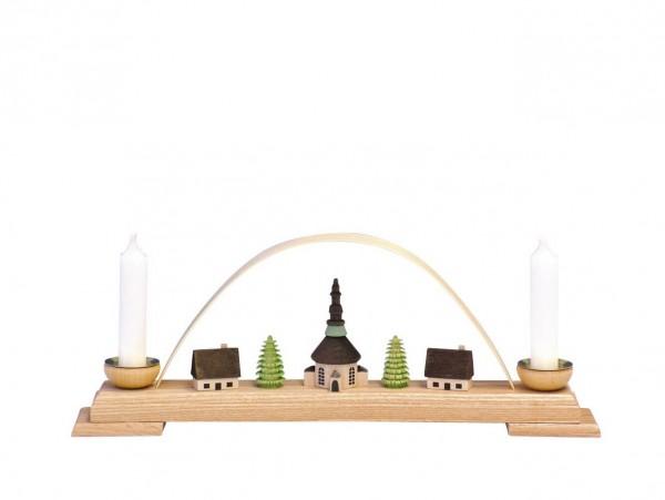 Knuth Neuber, Schwibbogen mit Seiffener Kirche, 27 cm_Bild1