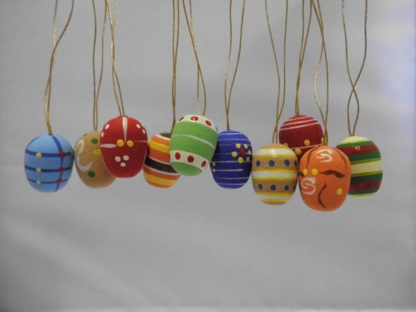 Ostereier, handbemalt, 10 Stück, handbemalt, 10 Stück, 2 cm, Nestler-Seiffen.com OHG Seiffen/ Erzgebirge