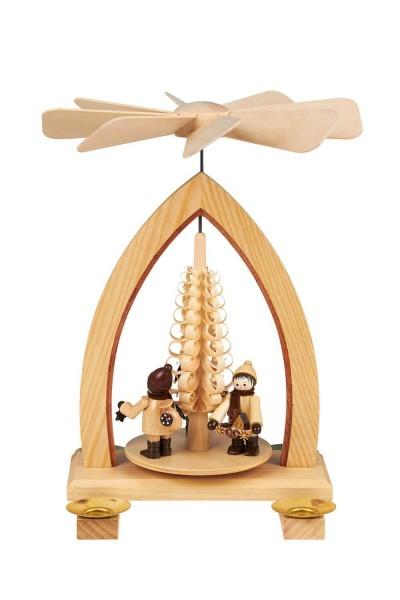 Weihnachtspyramide mit Striezelkinder, natur, 26 cm hergestellt von Heinz Lorenz Olbernhau/ Erzgebirge_Bild1