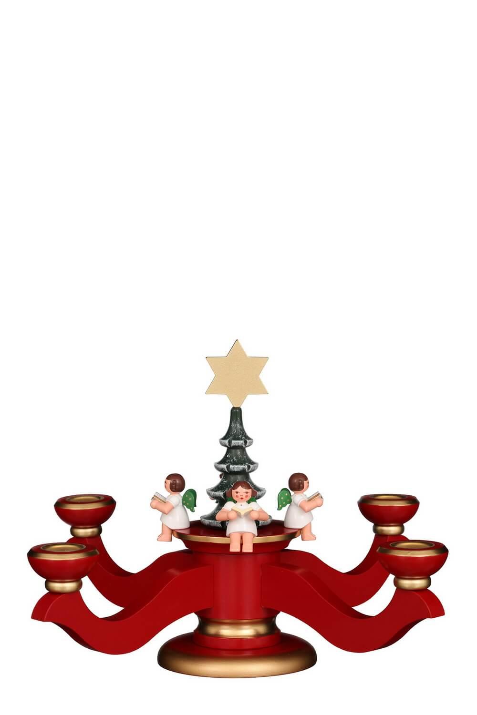 Adventsleuchter, 20 cm, rot von Christian Ulbricht GmbH & Co KG Seiffen/ Erzgebirge
