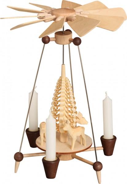 schlichte Weihnachtspyramide mit Rehen von svk