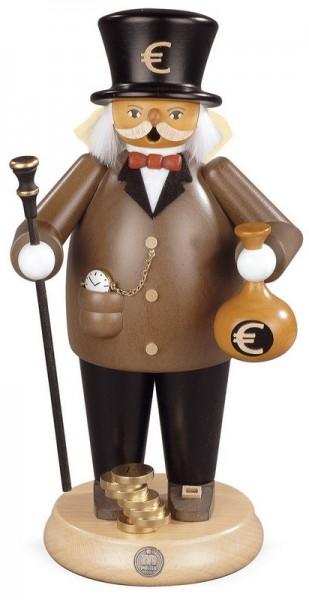 Räuchermännchen Banker, 14 x 25 cm, Müller GmbH Kleinkunst aus dem Erzgebirge