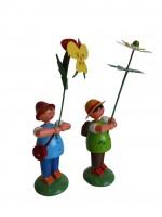 Vorschau: Blumenkinder von WEHA-Kunst als Wiesenblumenjungen, 2 Stück_Bild2