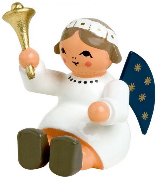 KWO Weihnachtsengel sitzend mit Glocke