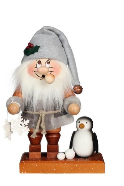 Räuchermännchen Wichtel Nordpol Santa mit seinem freundlichen Gesicht und der typischen Knubbelnase von Christian Ulbricht GmbH & Co KG Seiffen/ …