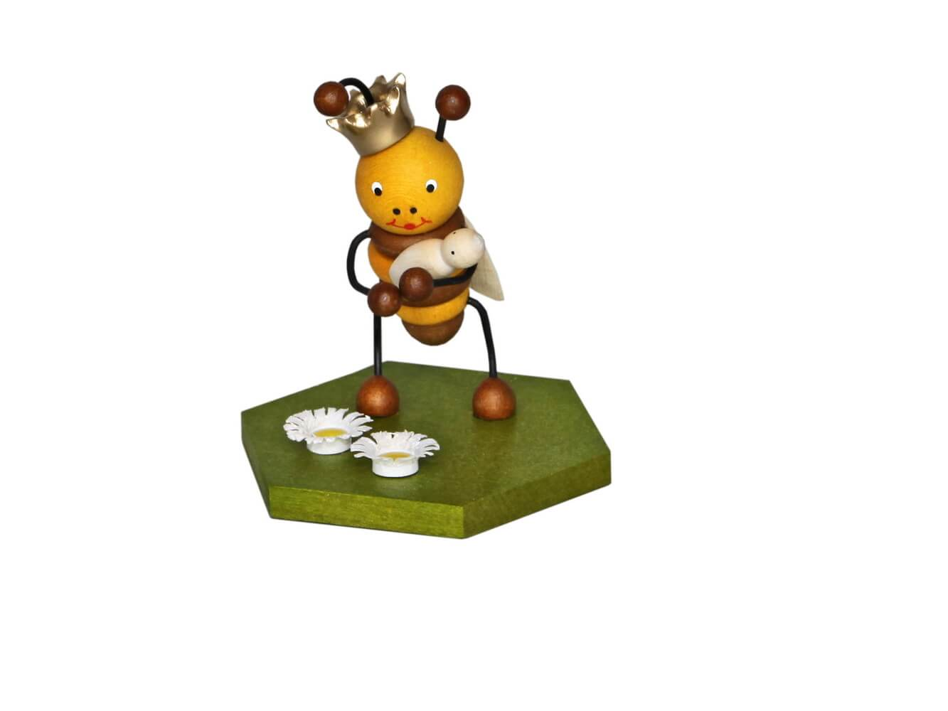 Bienenkönigin, 8 cm von Volker Zenker aus Seiffen