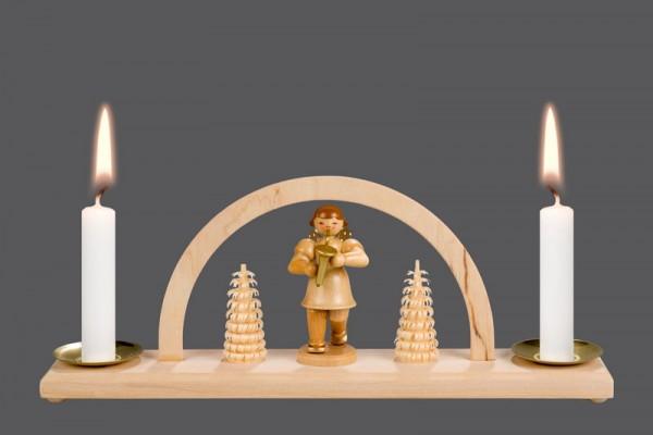 Mini-Schwibbogen Weihnachtsengel (7,5 cm), 23 x 8,5 x 4,2 cm, Nestler-Seiffen.com OHG Seiffen/ Erzgebirge