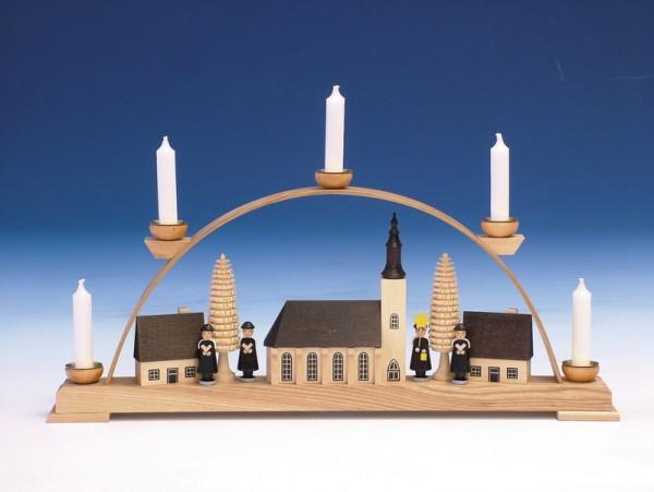 Schwibbogen Schwibbogen Schneeberger Kirche, bunt, 43 cm, Knuth Neuber Seiffen/ Erzgebirge