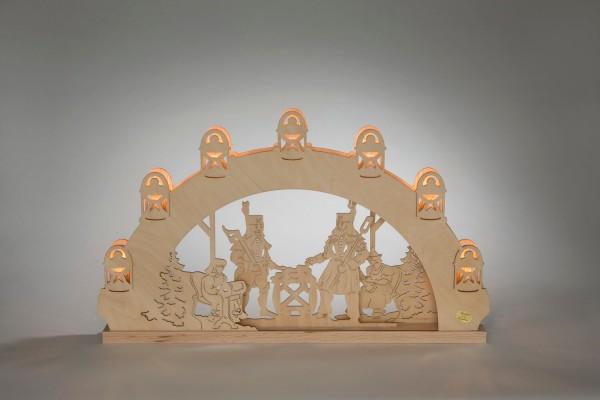 """Schwibbogen Bergmann, elektrisch beleuchtet, 52 x 31,7 x 4,5 cm von Weigla - Günter Gläser Deutschneudorf/ Erzgebirge DerLichterbogen """"Bergmann"""" …"""