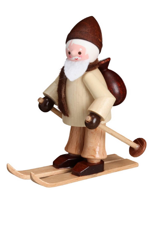 Der Nikolaus auf Ski in natur von Romy Thiel Deutschneudorf/ Erzgebirge, hat eine tolle Idee.Wenn man im Schnee nicht schnell genug voran kommt, …