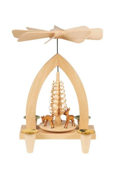 Weihnachtspyramide mit Rehe (3 Stück), 26 cm hergestellt von Heinz Lorenz Olbernhau/ Erzgebirge_Bild1