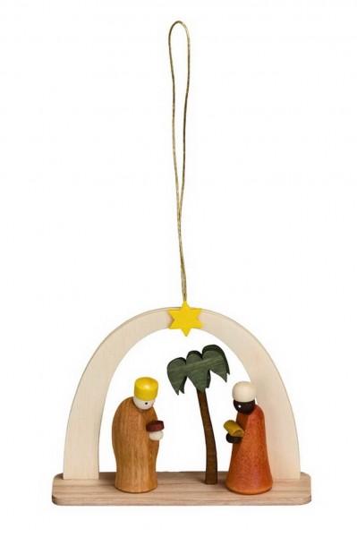 Christbaumschmuck & Baumbehang Heilige Könige, 6 cm Größe ca. 6 cm Material: heimische Hölzer, hochwertige Farben und Lacke Theo Lorenz Seiffen/ …
