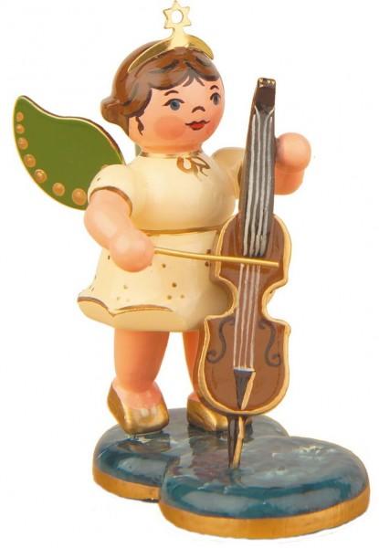 Weihnachtsengel mit Cello von Hubrig Volkskunst GmbH Zschorlau/ Erzgebirge ist 7 cm groß.