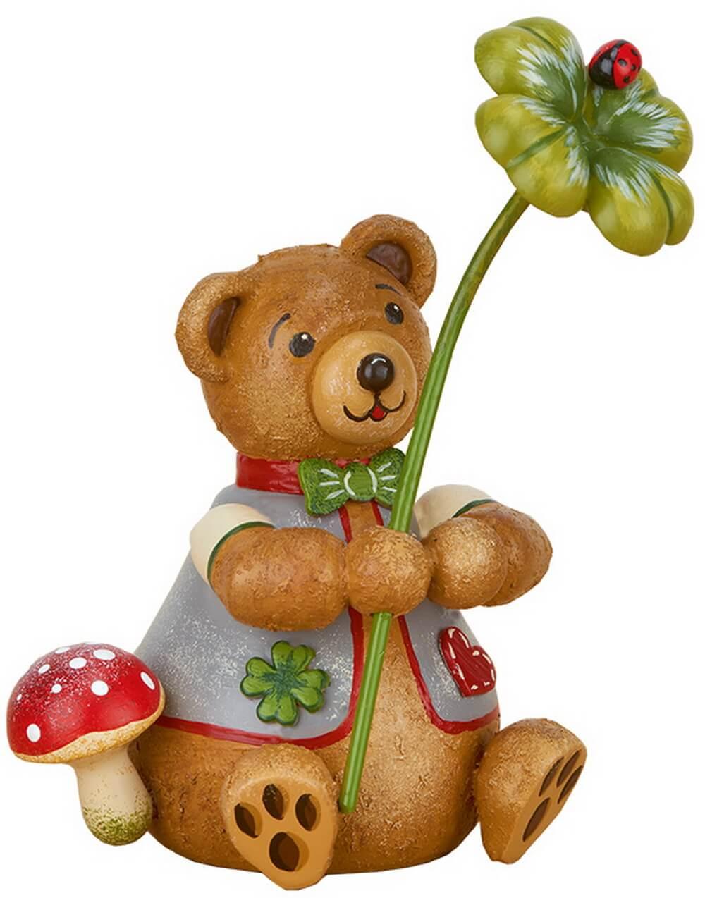 Teddy Glücksbärli aus Holz aus der Serie Hubiduu Teddy von Hubrig