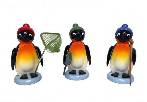Pinguine von Nestler-Seiffen als Angler, 3 - teilig _Bild1