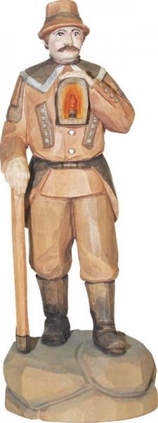 Berghäuer in Arbeitstracht, geschnitzt, in verschiedenen Größen