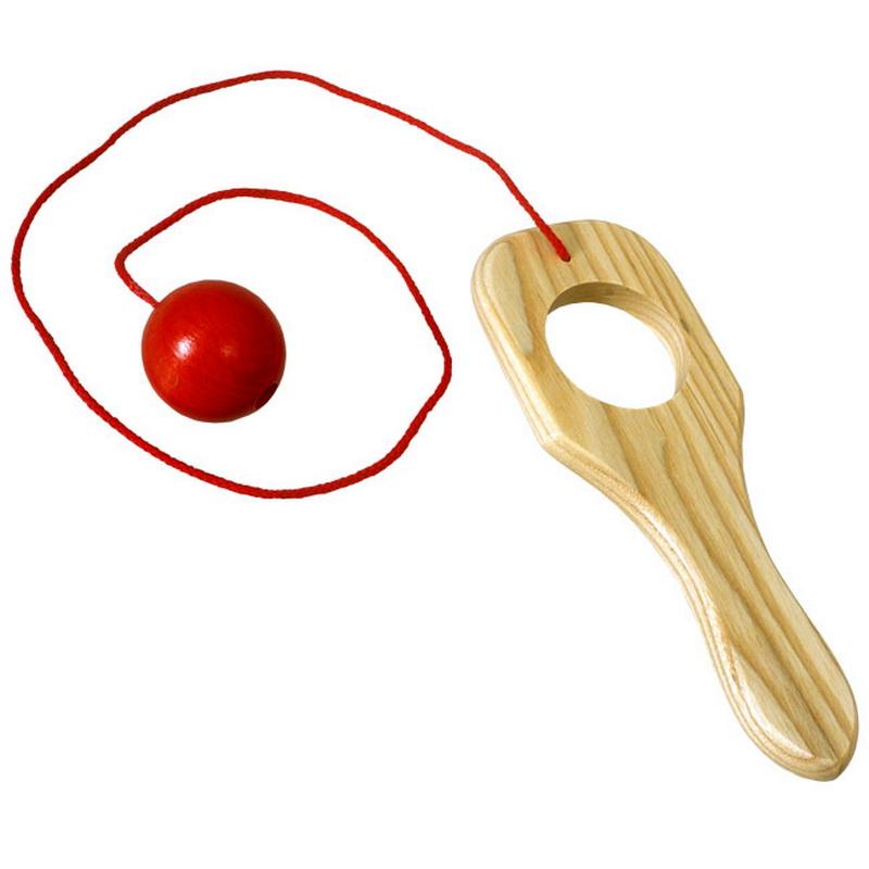 Ein tolles Kinderspielzeug zum üben der Geschicklichkeit ist das Fangbrettchen aus Holz. Der Ball, welcher an der Schnur hängt, wird in die Höhe …