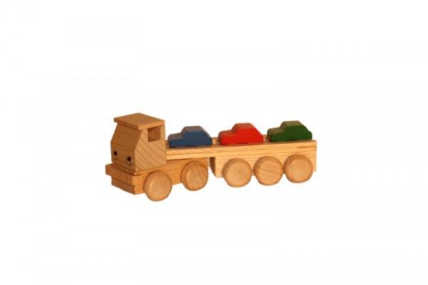 Autotransporter, farbig, 14 cm, Spielalter ab 3 Jahre, Erzgebirgische Holzspielwaren Ebert GmbH Olbernhau/ Erzgebirge