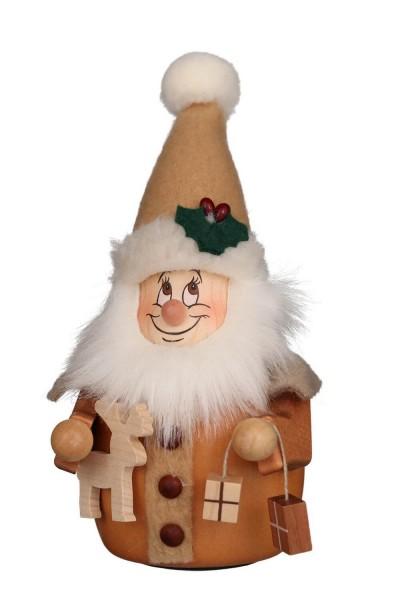 Wackelwichtel Weihnachtsmann, natur, 16 cm von Christian Ulbricht GmbH & Co KG Seiffen/ Erzgebirge