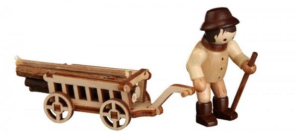 Der Waldmann mit Handwagen, mini in natur von Romy Thiel Deutschneudorf/ Erzgebirge, zählt zu einer der beliebtesten Sammelfiguren. Voll geladen hat er den …
