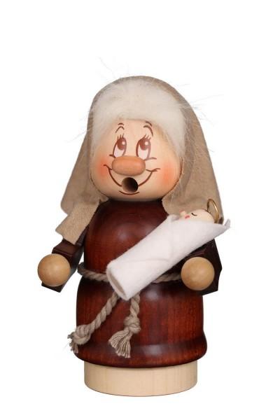 Räuchermännchen Miniwichtel Maria mit der typischen Knubbelnase und dem freundlichen Gesicht von Christian Ulbricht GmbH & Co KG Seiffen/ Erzgebirge …