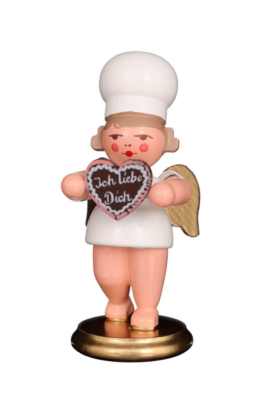 Weihnachtsengel von Christian Ulbricht mit dem Motiv Bäckerengel mit Herz