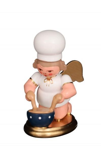 Weihnachtsengel - Bäckerengel mit Backschüssel, 7 cm, Christian Ulbricht GmbH & Co KG Seiffen/ Erzgebirge