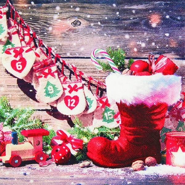 Weihnachtsservietten Santa´s Boots von Home Fashion®