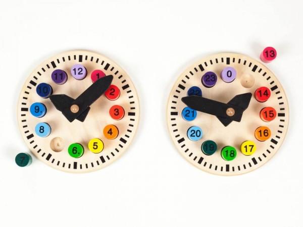 Ich bringe schon die Zahlen!! Um diese optisch einzubinden und umzusetzten eignet sich am Besten das Spiel und der Umgang mit der Uhr. Ganz tolle kleine …