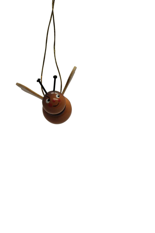 Hummeln zum hängen, 5 Stück aus Buchenholz gefertigt, bunt bemalt, 3 cm von Nestler-Seiffen.com OHG Seiffen/ Erzgebirge