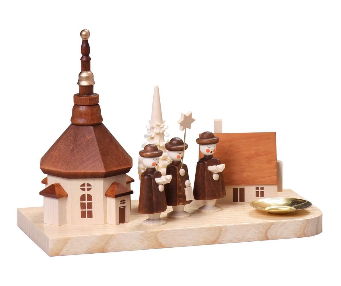 Kerzenhalter klein Seiffener Dorf, 13 cm von Thomas Preißler