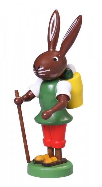 Osterhase Hase mit Korb, 9 cm von Thomas Preißler Seiffen/ Erzgebirge Größe: ca. 9 cm Material: heimische Hölzer, hochwertige Farben und Lacke