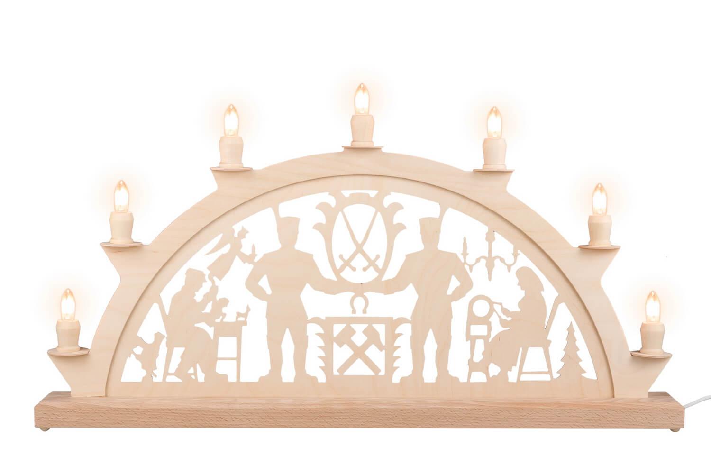 Schwibbogen von Nestler-Seiffen mit dem Motiv Schwarzenberger, 60 cm, elektrisch beleuchtet mit 7 Spitzkerzen_Bild1