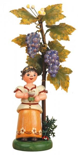 Herbstkind - Wein ,13 cm von Hubrig Volkskunst GmbH Zschorlau/ Erzgebirge