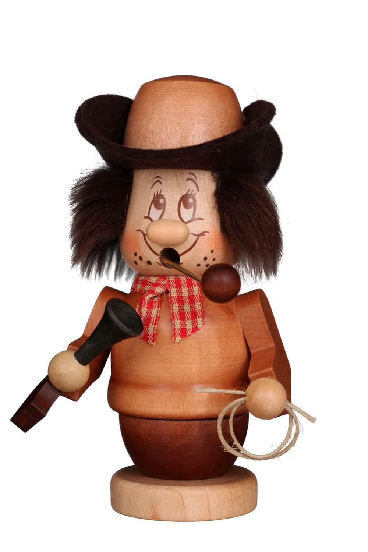 Christian Ulbricht Räuchermännchen Miniwichtel Cowboy, 14 cm