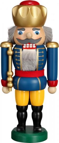 Hier erscheint Ihre Majestät der Nussknacker König in blau, mit 25 cm von der Seiffener Volkskunst eG Seiffen/ Erzgebirge. Dienten früher die Nussknacker oder …