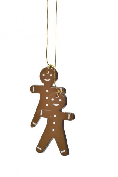 KWO Christbaumschmuck Pfefferkuchenmännchen zum Hängen für den Weihnachtsbaum