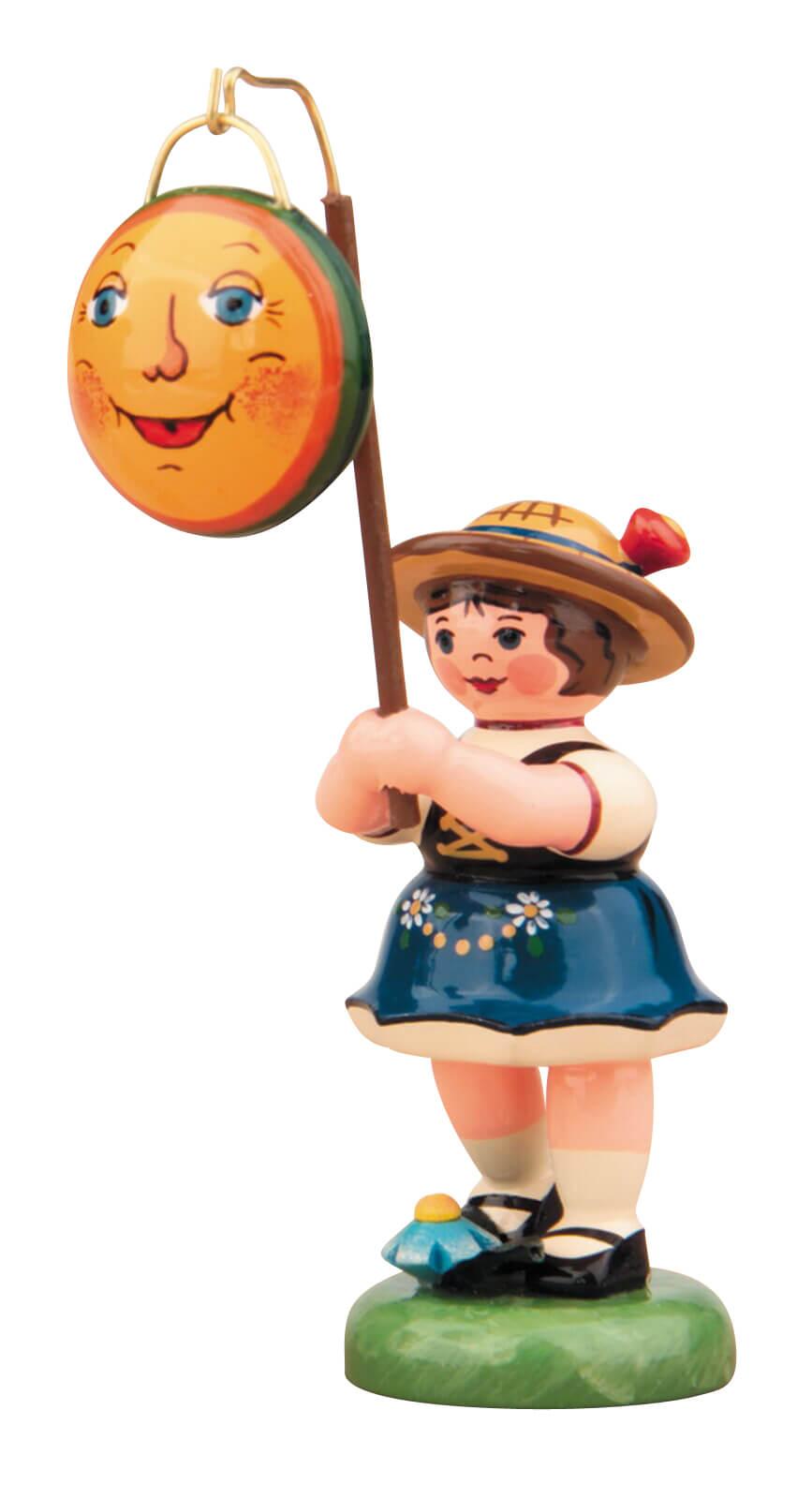 Lampionkind Mädchen von Hubrig Volkskunst mit Mond