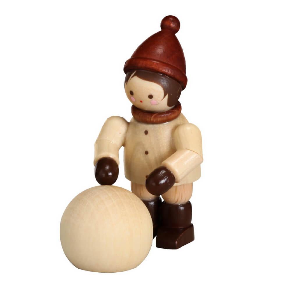Der Kugelroller, mini in natur von Romy Thiel Deutschneudorf/ Erzgebirge. Schneemann bauen und Schneeballschlacht, Winter ist so schön!! Das weiß auch dieser …