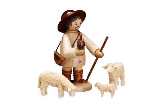 """Der Hirte mit Schafen in natur von Romy Thiel Deutschneudorf/ Erzgebirge, gehört mit einer Höhe von 12 cm, zu den großen Sammelfiguren. Das Motiv """"Hirte …"""