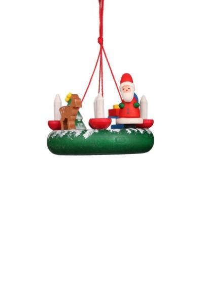 Christbaumschmuck von Christian Ulbricht Kranz mit Weihnachtsmann, 6 Stück
