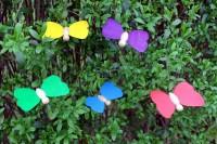 Vorschau: Schmetterlinge 5er Set zum Aufhängen, 9 x 7 cm von Erzgebirgische Holzspielwaren Ebert GmbH Olbernhau/ Erzgebirge