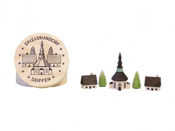 Knuth Neuber, Spanschachtel mit Seiffener Dorf