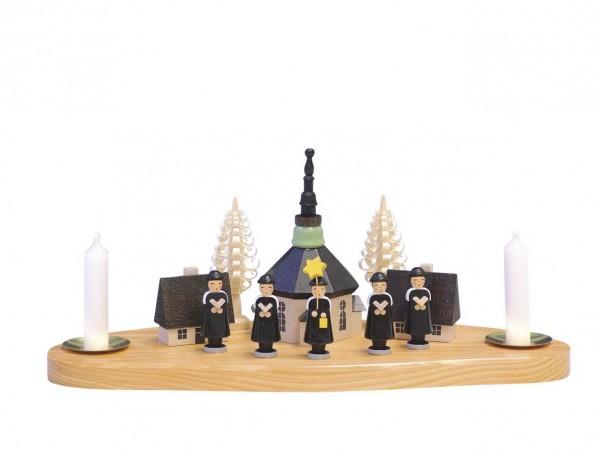 Knuth Neuber, Weihnachtskerzenhalter Seiffener Kirche mit Kurrende_Bild1