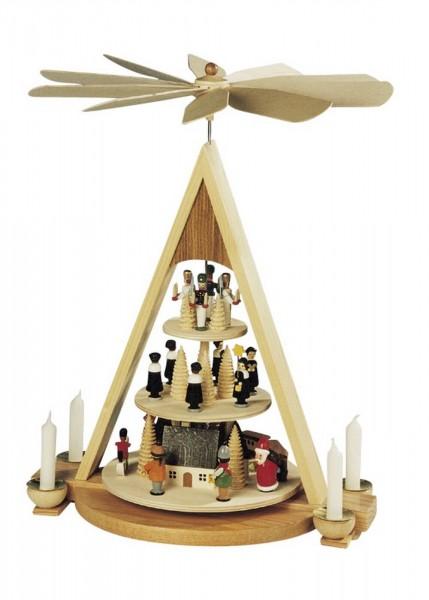 Knuth Neuber, Weihnachtspyramide Erzgebirgsweihnacht, 3 - stöckig