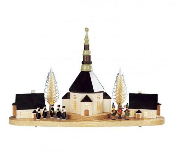 Knuth Neuber, Sockelbrett Weihnachtsberg mit kleiner Kurrende
