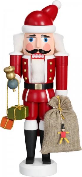 Ho, Ho, Ho ... Wer kommt dennn da von draussen rein ? Der Nussknacker Weihnachtsmann, 28 cm von der Seiffener Volkskunst eG Seiffen/ Erzgebirge. Dienten …