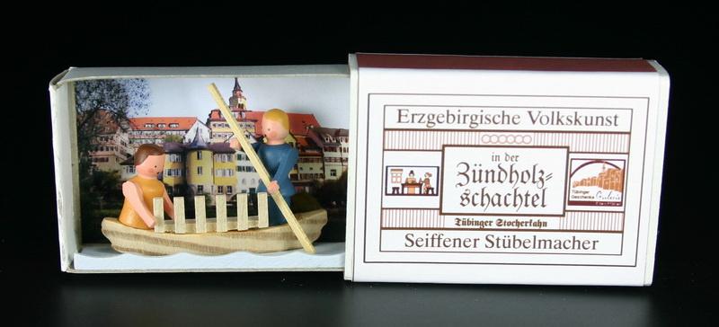 Zündholzschachtel Stocherkahn von Gunter Flath aus Seiffen / Erzgebirge Detailgetreue Nachbildung eines Stocherkahnes aus früheren Zeiten. Dieser Stocherkahn …