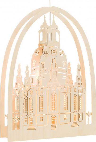 KWO Fensterbild Motiv Dresdener Frauenkirche elektrisch beleuchtet